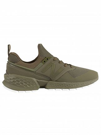 New Balance Green 574 Leather Trainers