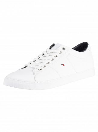 Tommy Hilfiger White Essential Leather Trainers