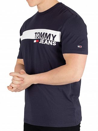 Tommy Jeans Black Iris Navy Essential Box T-Shirt