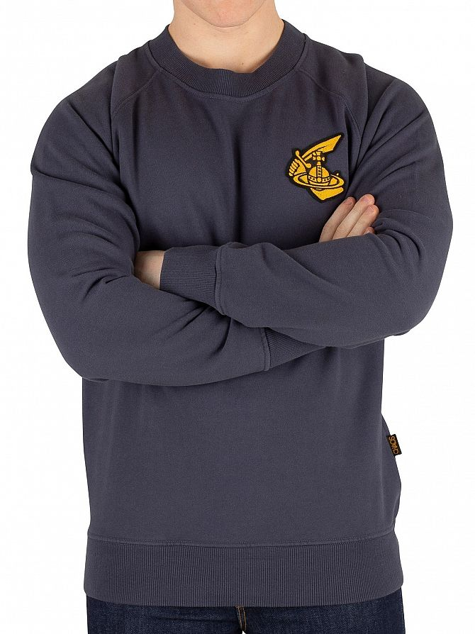 Vivienne Westwood Anthracite Badge Classic Sweatshirt