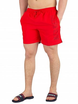 Calvin Klein Flame Scarlet Medium Drawstring Swimshorts