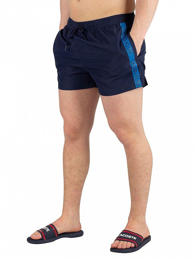 Calvin Klein Blue Shadow Short Drawstring Swimshorts