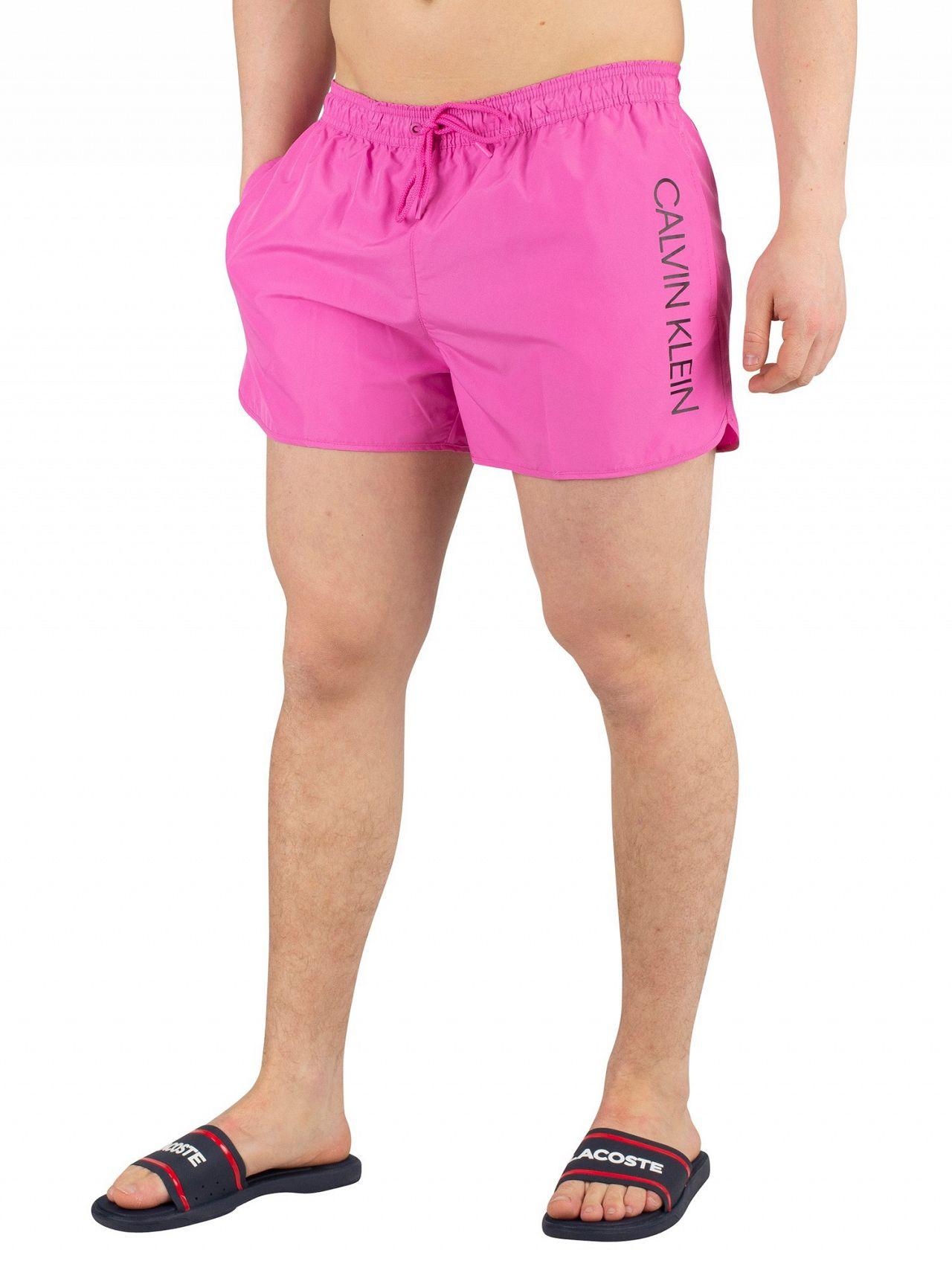 d86662bb5e Calvin Klein Phlox Pink Short Runner Logo Swimshorts   Standout