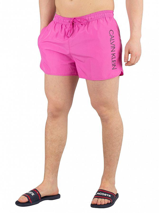 Calvin Klein Phlox Pink Short Runner Logo Swimshorts