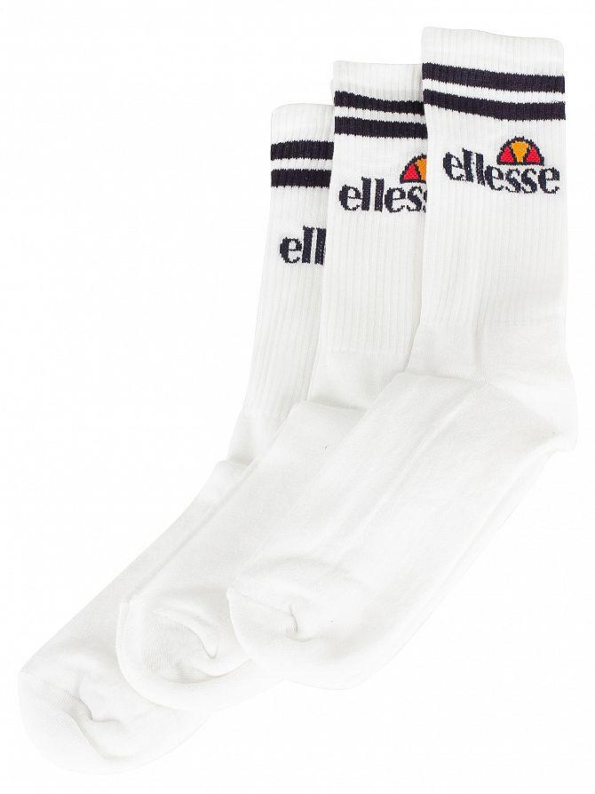 Ellesse White 3 Pack Socks