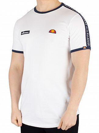 Ellesse White Fede Taped T-Shirt