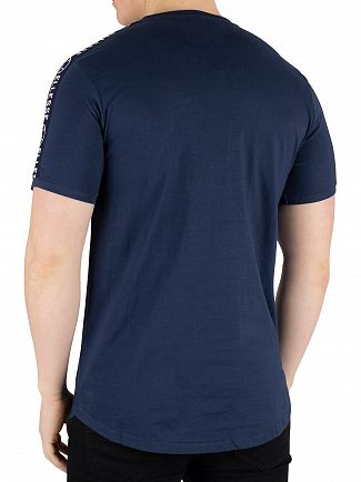 Ellesse Navy Fede Taped T-Shirt