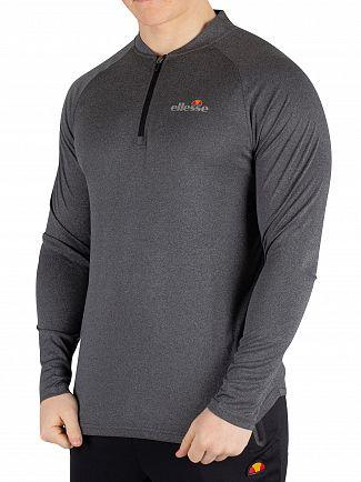 Ellesse Black Marl Janeti Longsleeved T-Shirt