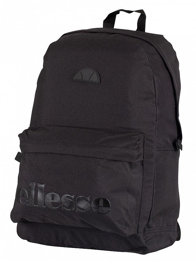 Ellesse Black Mono Regent Backpack