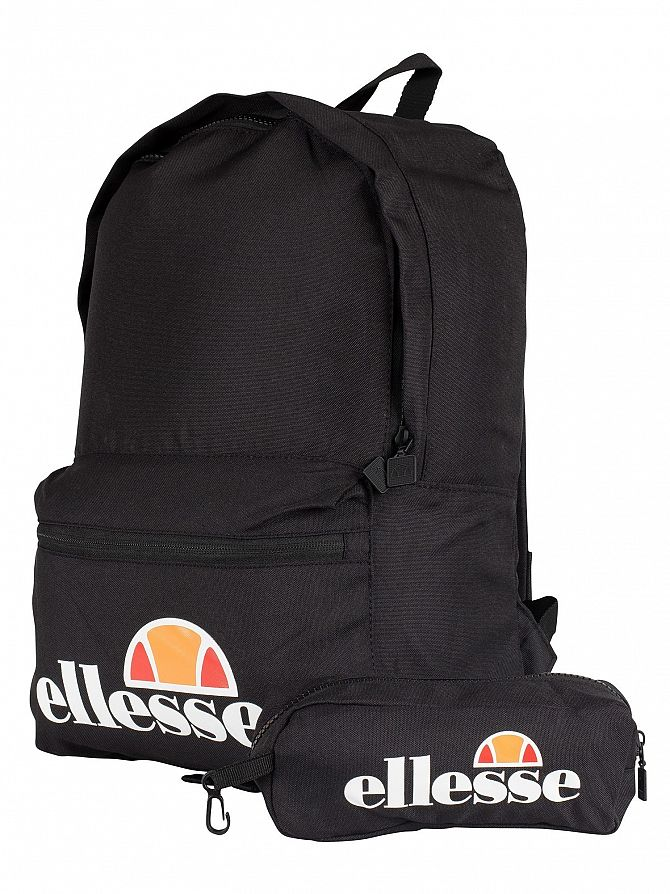 Ellesse Black Rolby Backpack & Pencil Case