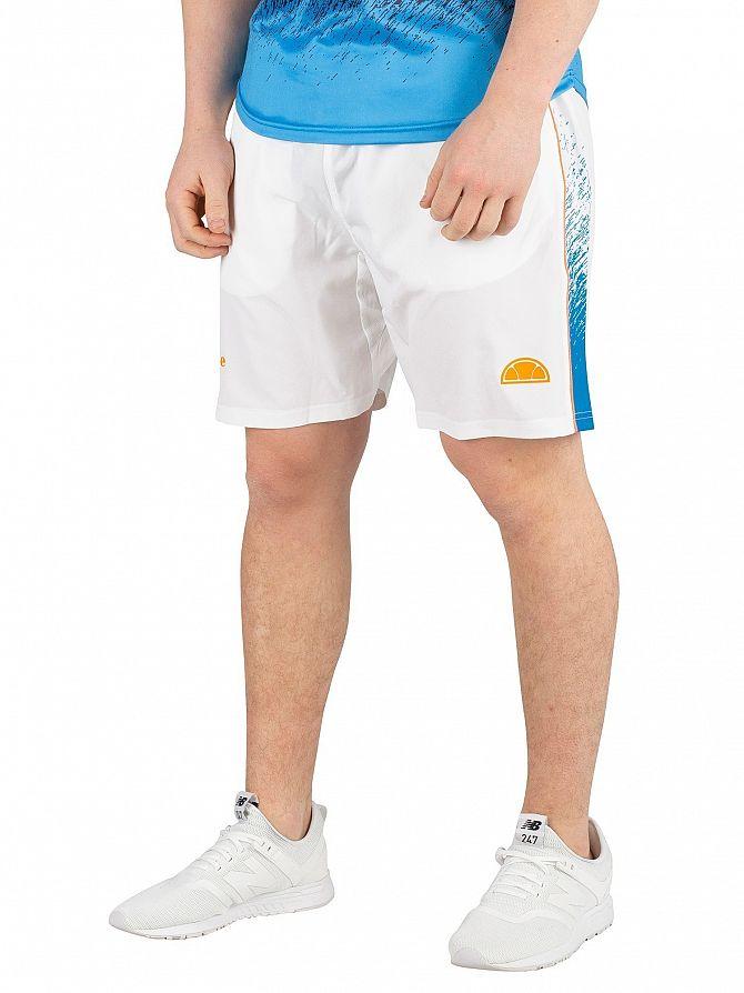 Ellesse White Salva Sport Shorts