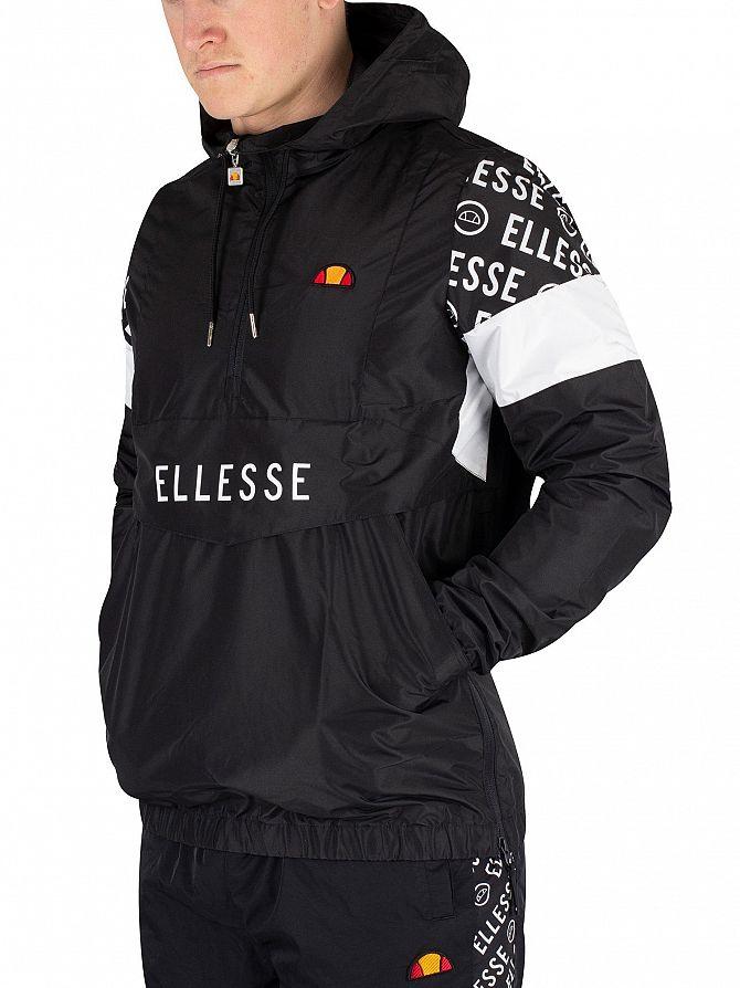 Ellesse Black Sapri Overhead Jacket