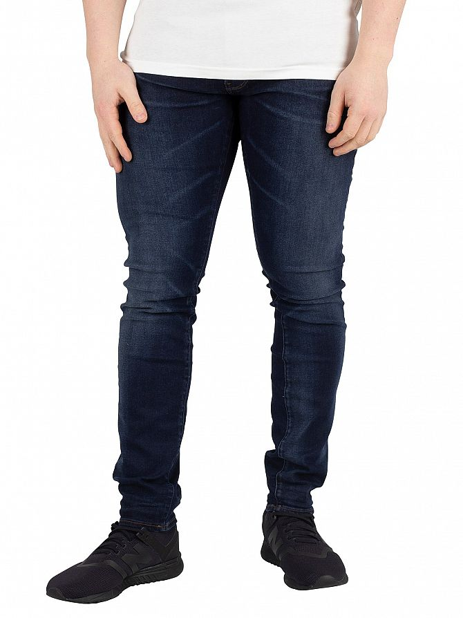 G-Star Dark Aged 3301 Deconstructed Skinny Jeans