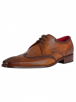 Jeffery West Castano Leather Shoes