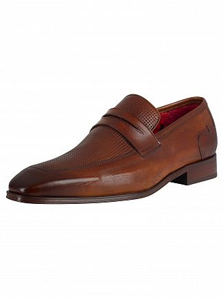 Jeffery West Castano Leather Loafers