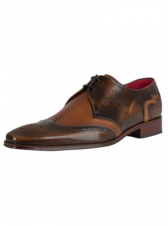 Jeffery West Camel/Castano Polished Leather Shoes
