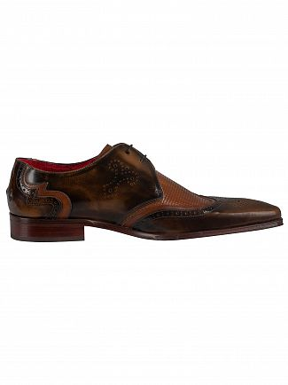 Jeffery West Camel/Castano Polished Leather Shoes