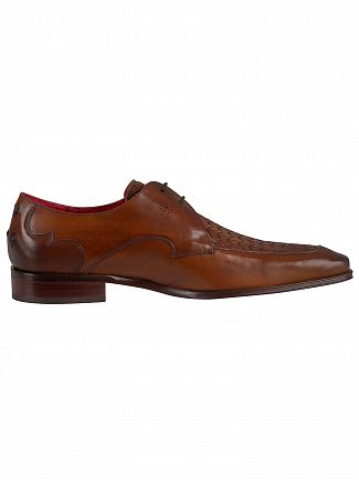 Jeffery West Castano Scarface Leather Shoes