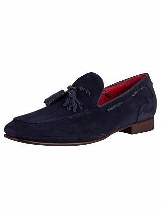 Jeffery West Dark Blue Suede Ibiza Loafer