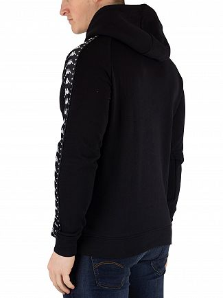 Kappa Black/White Authentic Porta Pullover Hoodie