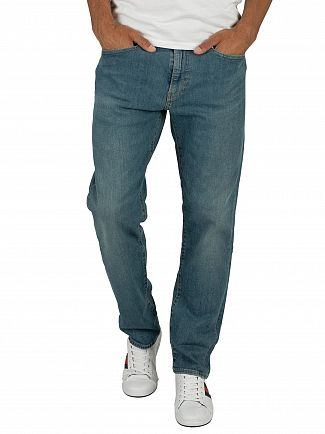 Levi's Green Beer 502 Regular Taper Jeans