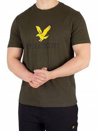 Lyle & Scott Dark Sage Logo T-Shirt
