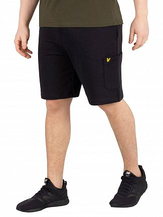 Lyle & Scott True Black Pocket Sweat Shorts