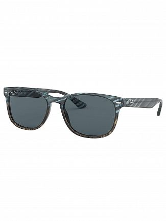 Ray-Ban Striped Blue Gradient Grey/Blue RB2184 Acetate Sunglasses