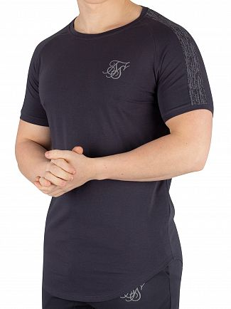 Sik Silk Anthracite Raglan Reflect T-Shirt