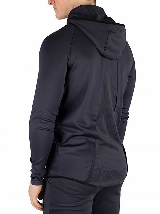 Sik Silk Anthracite Reflective Sprint Racer Zip Hoodie