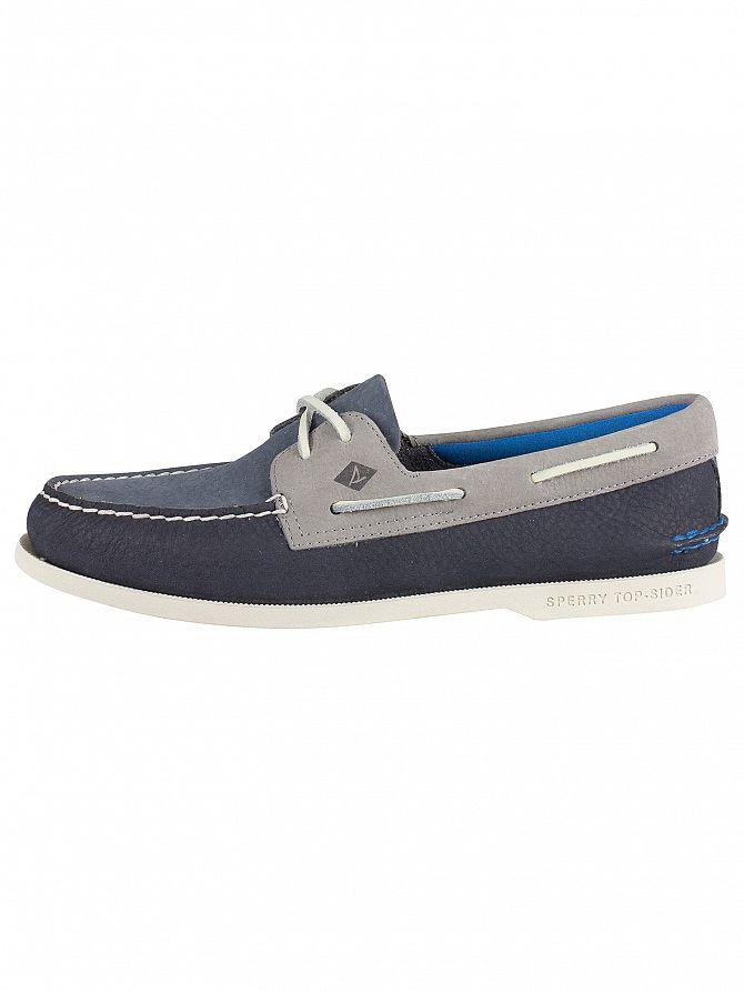 Zapatos Sperry Hombre Felpa Ao LavableAzul Ver Sider Ojo Para Título 2 Top Náuticos Original Detalles De fg7y6b