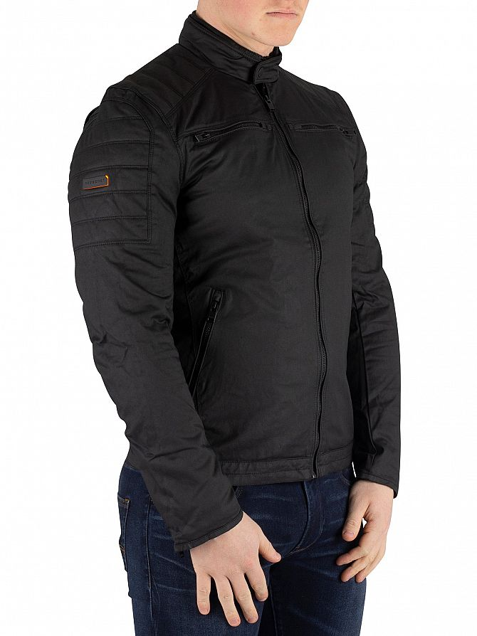 Superdry Black Carbon Biker Jacket