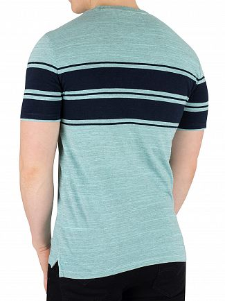 Superdry Lotus Pastel Jade Space Dye Dry Originals Stripe T-Shirt