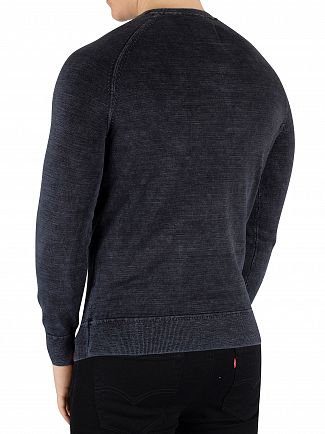 Superdry Washed Navy Thunder Garment Dyed L.A. Sweatshirt