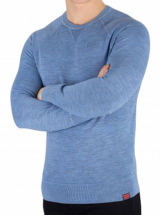 Superdry Washed Air Blue Garment Dyed L.A. Sweatshirt