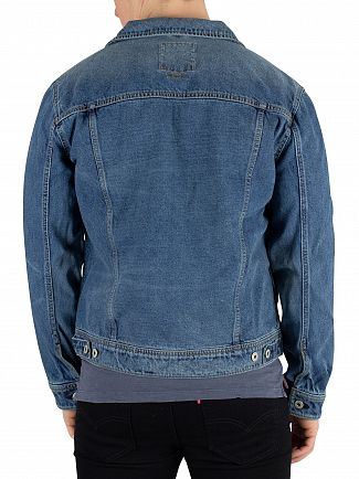 Superdry Vale Mid Blue Highwayman Trucker Jacket