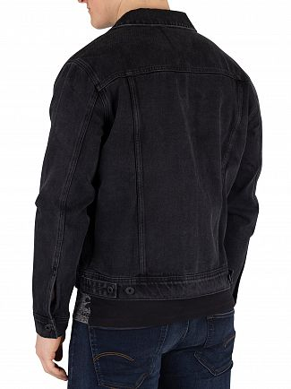 Superdry Elmfield Black Highwayman Trucker Jacket