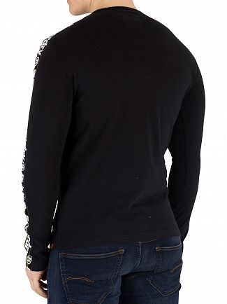 Superdry Black International Monochrome Longsleeved T-Shirt