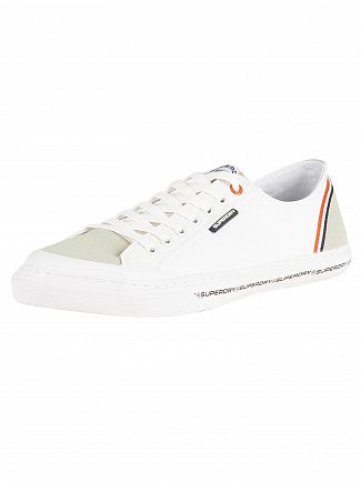 Superdry Optic White/Off White Low Pro Retro Trainers