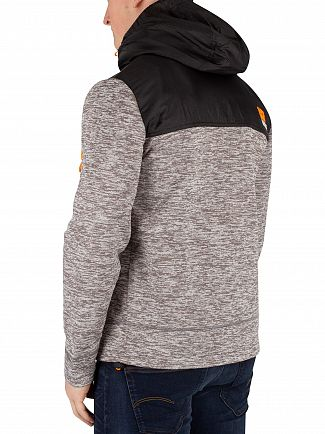 Superdry Silver Grey Marl Mountain Tech Zip Hoodie