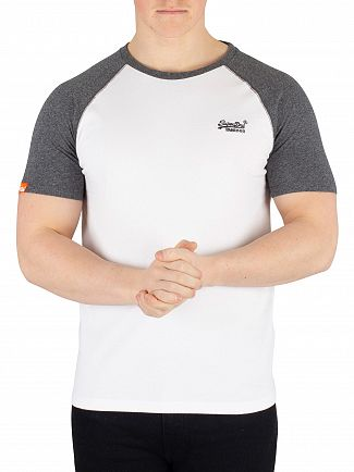 Superdry Optic Orange Label Baseball T-Shirt
