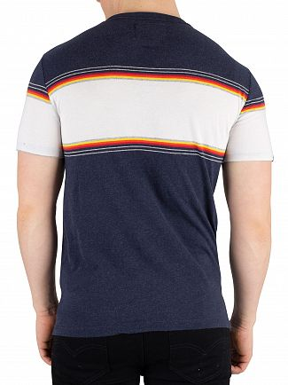 Superdry Bass Blue Grit Orange Label Chestband T-Shirt