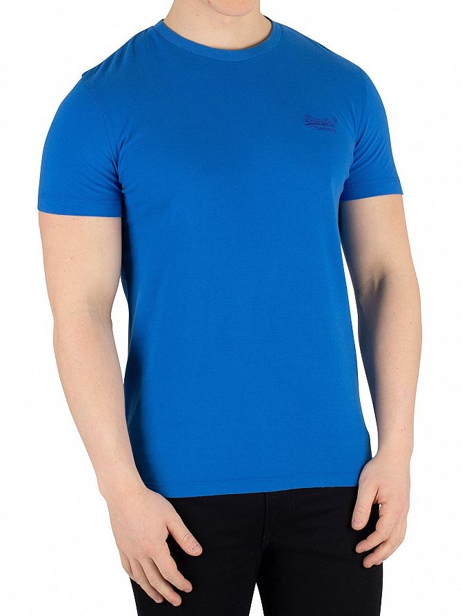 Superdry Deep Electric Blue Orange Label Lite T-Shirt