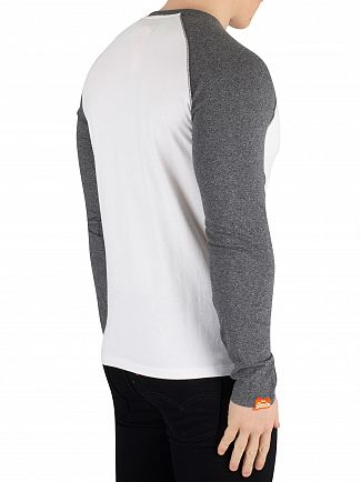 Superdry Optic Orange Label Longsleeved Baseball T-Shirt