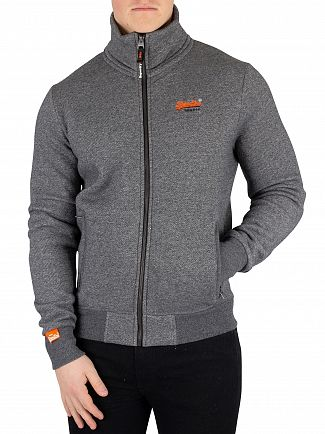 Superdry Grey Twill Orange Label Track Jacket