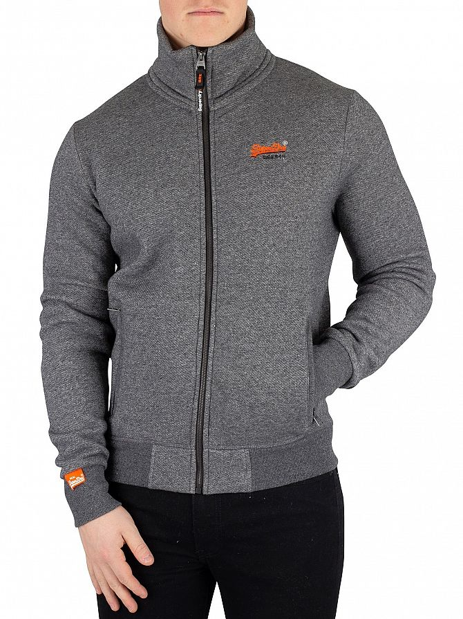 Superdry Grey Twill Orange Label Track Jacket