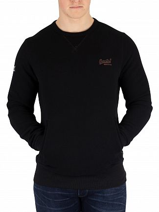 Superdry Black Orange Label Urban Sweatshirt