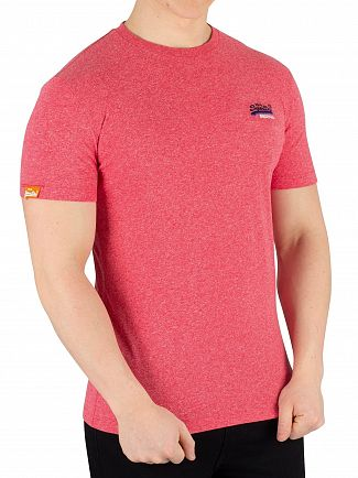 Superdry Red Grit Orange Label Vintage Embroidery T-Shirt