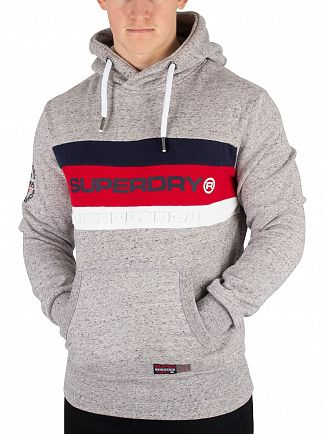 Superdry Chrome Grey Grit Trophy Pullover Hoodie