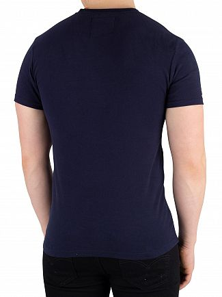 Superdry Gardena Navy Vintage Logo Neon Panel T-Shirt